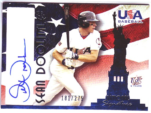 2006-07 USA Baseball Signatures Blue #14 Sean Doolittle