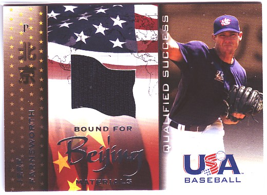 2006-07 USA Baseball Bound for Beijing Materials #8 Jeff Farnsworth Jsy