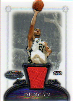 2006-07 Bowman Sterling #7 Tim Duncan JSY