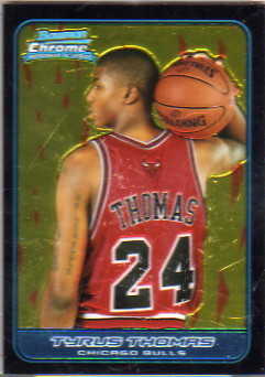 2006-07 Bowman Chrome #123 Tyrus Thomas RC