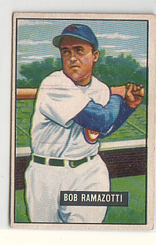 1951 Bowman #247 Bob Ramazzotti RC