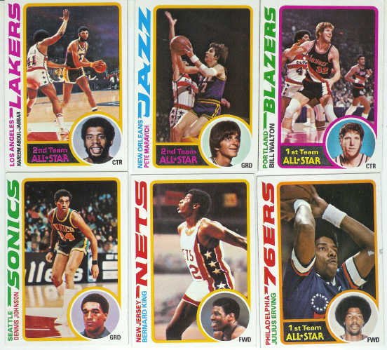 1978-79 Topps Basketball Complete Set (132 Card Set) Includes Dennis Johnson & Bernard King Rookies + Bill Walton, Gervin, Pete Maravich, Kareem Abdul-Jabaar & Julius Erving