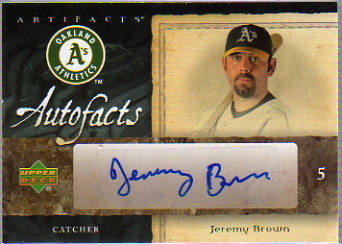 2007 SPx Autofacts Preview #BR Jeremy Brown