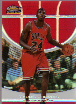 2005-06 Finest Refractors Red #143 Tyrus Thomas