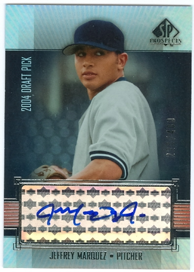 2004 SP Prospects #320 Jeff Marquez AU/400 RC front image