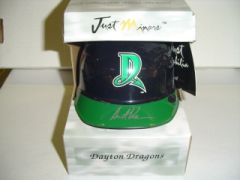 2001 Just Stuff Autographs Mini Helmets #AK Austin Kearns Dayton