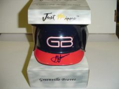 2001 Just Stuff Autographs Mini Helmets #GL George Lombard Greenville