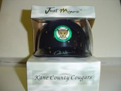 2004 Just Stuff Autograph Mini Helmets #DW2 Dontrelle Willis Kane County front image