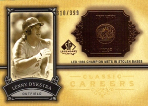 2005 SP Legendary Cuts Classic Careers #LD Lenny Dykstra