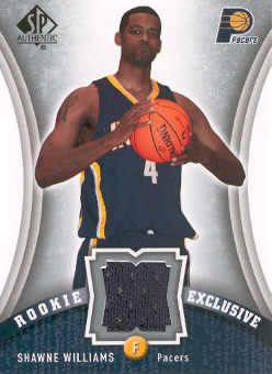 2006-07 SP Authentic Rookie Exclusives Jerseys #WI Shawne Williams front image