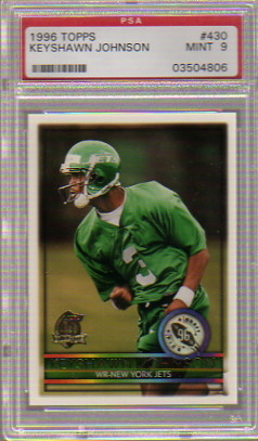 1996 Topps #430 Keyshawn Johnson RC