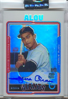 2005 Topps Retired Signature Autographs Refractors #JA Jesus Alou B/25