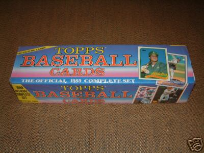1989 Topps Baseball Factory Sealed Set (792 Cards) (Colorful Box)