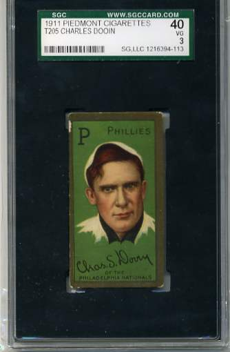 1911 T205 Gold Border #50 Chas. S. Dooin