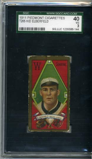 1911 T205 Gold Border #59 Kid Elberfeld