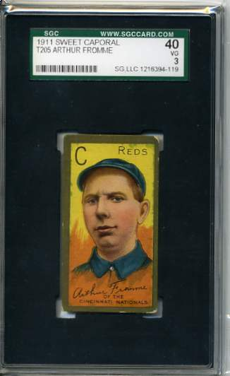1911 T205 Gold Border #72 Arthur Fromme