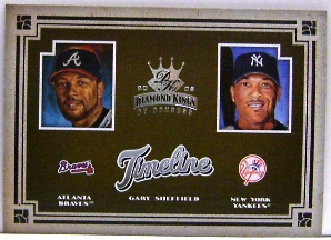 2005 Diamond Kings Timeline #17 Gary Sheffield Braves-Yanks