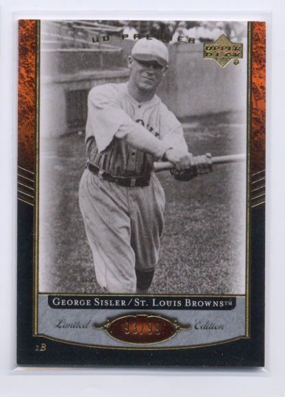 2007 Upper Deck Premier #19 George Sisler