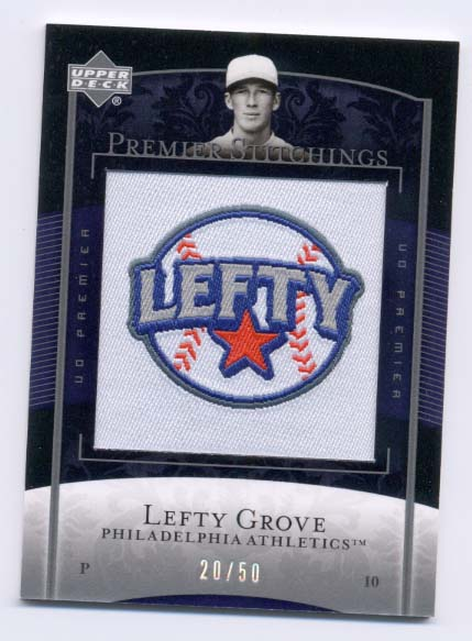 2007 Upper Deck Premier Stitchings #48 Lefty Grove