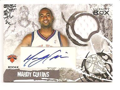 2006-07 Topps Luxury Box Rookie Relics Autographs #MC Mardy Collins