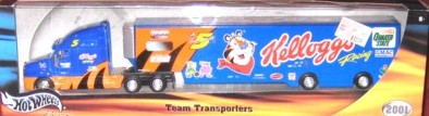 2001 Hot Wheels Racing Transporters 1:64 #5 T.Labonte/Kellogg's Tony