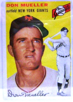 1954 Topps #42 Don Mueller front image