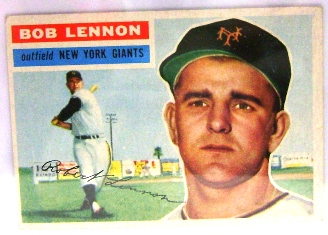 1956 Topps #104 Bob Lennon front image