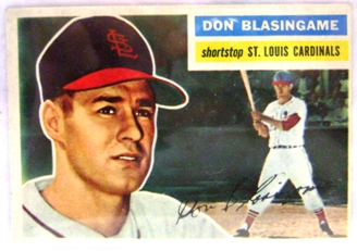 1956 Topps #309 Don Blasingame RC