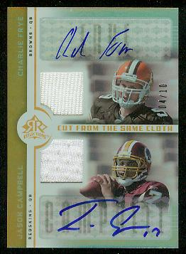 2005 Reflections Cut From the Same Cloth Autographs #FC Charlie Frye/Jason Campbell