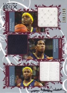 2006-07 Topps Luxury Box Courtside Relics Triple #OJT Jermaine O'Neal/Danny Granger/Jamaal Tinsley