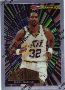 1994-95 Finest Cornerstone #CS4 Karl Malone