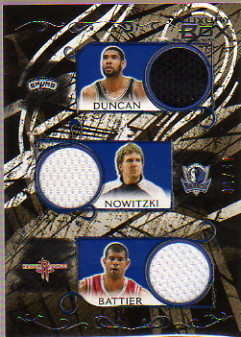 2006-07 Topps Luxury Box Relics Five #10 Tim Duncan/Dirk Nowitzki/Shane Battier/Peja Stojakovic/Rudy Gay