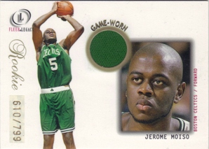 2000-01 Fleer Legacy #96 Jerome Moiso JSY RC