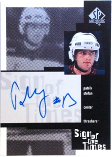 1999-00 SP Authentic Sign of the Times #PS Patrik Stefan