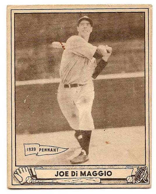 1940 Play Ball #1 Joe DiMaggio front image