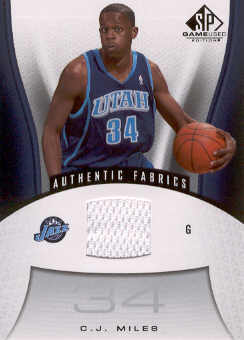 2006-07 SP Game Used #196 C.J. Miles JSY