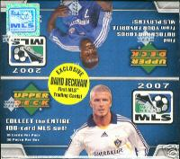 2007 Upper Deck MLS Soccer Factory Sealed Hobby Box - Possible David Beckham MLS Rookie Cards & Possible Random MLS Player Autographed Cards - In Stock Now