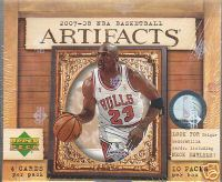 2007 - 08 ( 2008 ) Upper Deck Artifacts NBA Basketball Factory Sealed Hobby Box - An Autograph Or Memorabilia Or #ed Card In Each Pack On Avg. - Possible Kevin Durant & Michael Jordan - In Stock Now   front image