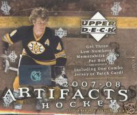 2007 - 08 ( 2008 ) Upper Deck Artifacts NHL Hockey Factory Sealed Hobby Box - 1 Autograph & 3 Memorabilia ( 1 Combo ) Cards & 3 Rookies Per Box On Avg. - In Stock Now