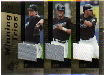 2007 SPx Winning Trios Gold #WT33 A.J. Burnett/Alex Rios/Vernon Wells