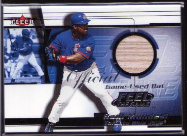 2001 Fleer Feel The Game Raul Mondesi Bat