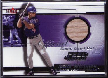 2001 Fleer Feel The Game Matt Williams Bat