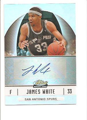 2006-07 Finest Rookie Autographs Refractors #76 James White E