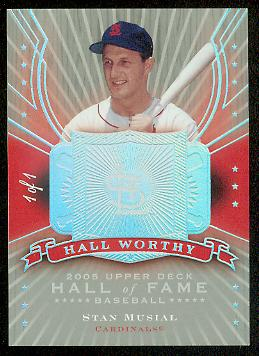 2005 Upper Deck Hall of Fame Hall Worthy Rainbow #SM1 Stan Musial