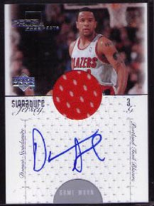 2000-01 Upper Deck Pros & Prospects Signature Jerseys #DS, Damon Stoudamire