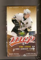 2007- 08 ( 2008 ) Upper Deck MVP Hockey Factory Sealed Hobby Box - 1 Jersey Card Per Box & 1 Rookie Or Insert Card Per Pack + A Evgeni Malkin Card - In Stock Now