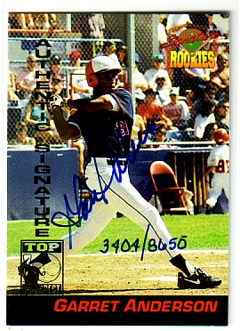 1994 Signature Rookies Signatures #5 Garret Anderson