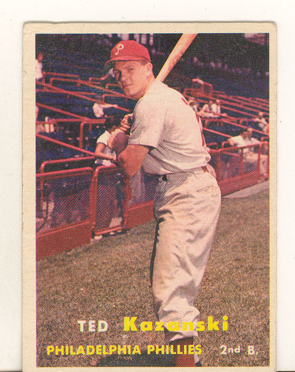 1957 Topps #27 Ted Kazanski