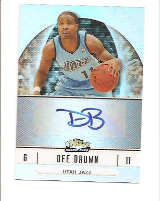 2006-07 Finest Rookie Autographs Refractors #77 Dee Brown F