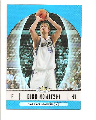 2006-07 Finest Refractors Blue #12 Dirk Nowitzki